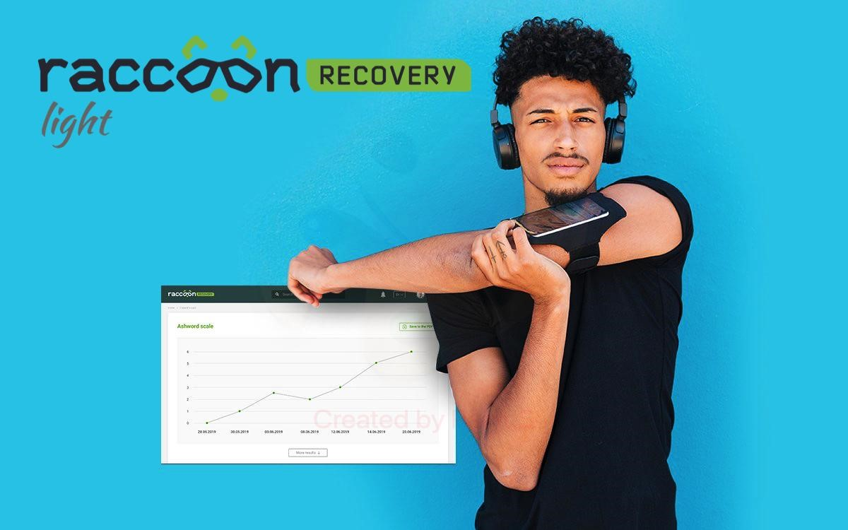 Launch of Raccoon.Recovery Light - a platform modification for remote physiotherapy