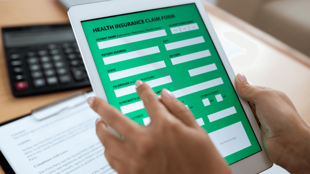 Electronic form of health insurance in digital tablet